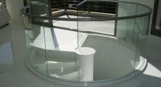 Stainless steel railing bended
